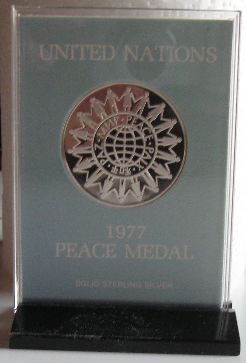 0200 United Nations peace medal 1977